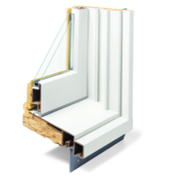 Diagram detailing the moulding in a window framework